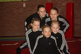 Photo: 2e districtwedstrijd Deventer. Met: Nienke, Yara, Indy en Chantal