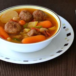 Crock Pot Turkey Meatball Soup.