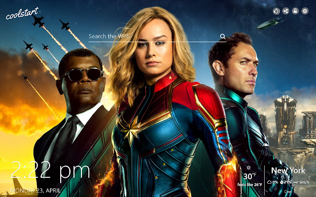Captain Marvel HD Wallpapers New Tab Theme