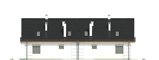 Nowinka VI z garażem 1-st. bliźniak A-BL1 - Elewacja tylna