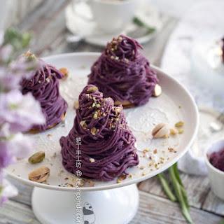 Purple Sweet Potato Mont-blanc