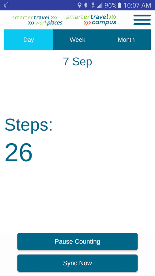Smarter Travel Step Counter- screenshot
