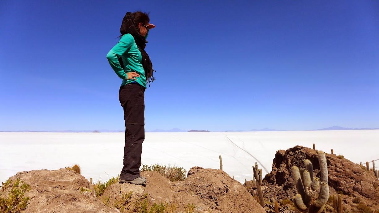 Salar de Uyuni oasis.