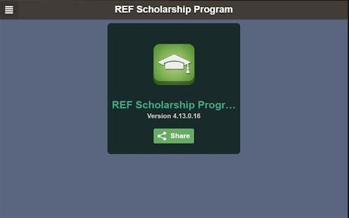 REF Scholarship Program- screenshot thumbnail