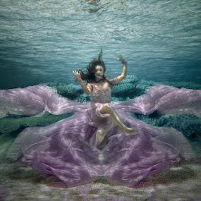 Butterfly of the sea by Roy Ervin III - People Portraits of Women ( butterfly, underwater, sea, beauty )