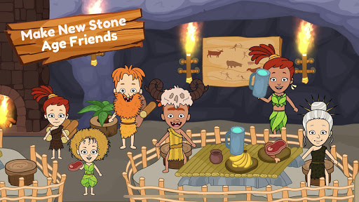 My Dinosaur Town - Jurassic Caveman Games for Kids 3.1 Screenshots 2
