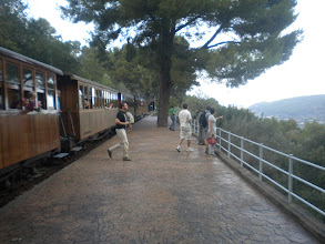 Photo: Train Stop from Palma to Soller, Mallorca Spain