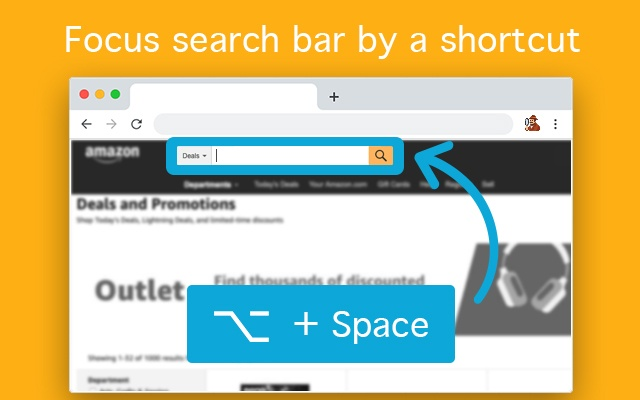 Focus Search Bar Shortcut