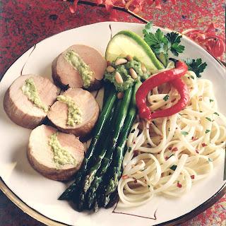 Pork Tenderloin with Cilantro-Lime Pesto.