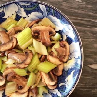 Simple Mushroom and Celery Stir Fry.