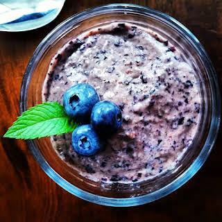Blueberry Paleo Vegan Yogurt.