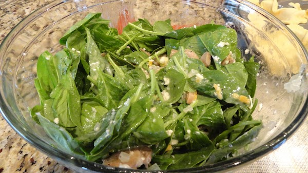 When done put into a bowl and mix together with the milk, spinach, mushrooms,...