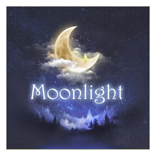 月光のテーマ(明るい月) 個人化 LOGO-玩APPs