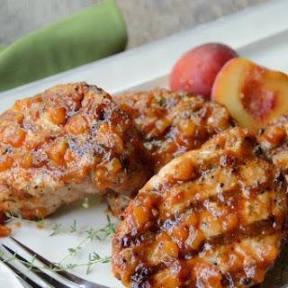 Grilled Pork Chops with Peach BBQ Sauce Recipe