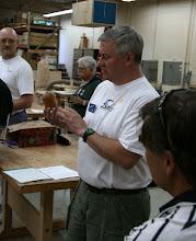 Photo: Bob Stroman - showing the classic Richard Raffan demo box he purchased after the demo in Richmond.
