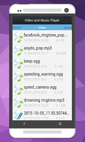 android Video and Music Player Screenshot 0