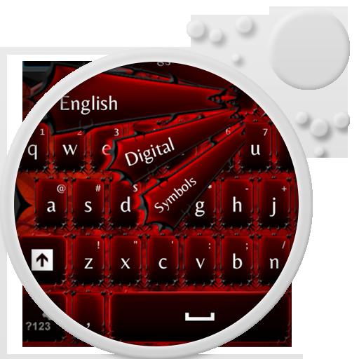 GOキーボードレッド 個人化 LOGO-玩APPs