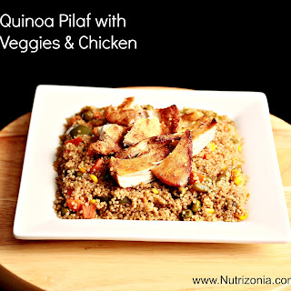 Quinoa pilaf with Veggies and Chicken