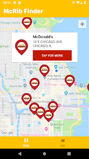 McDonald's Finder Screenshot