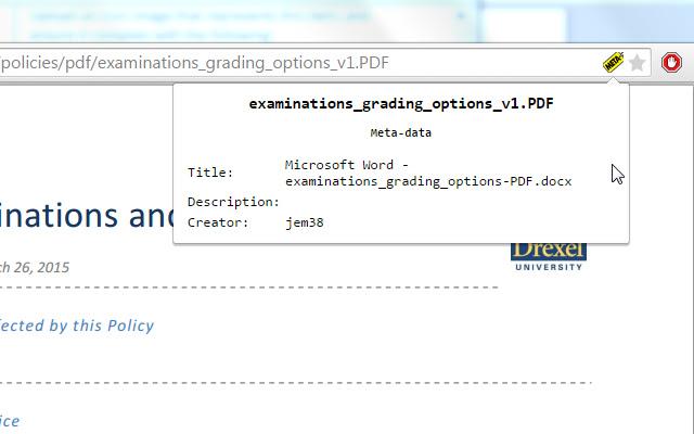 PDF Meta-data