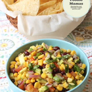 Corn, Avocado and Black Bean Salsa #FoodieMamas
