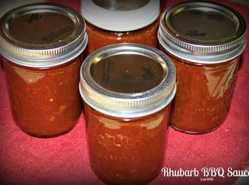"""DELISH Rhubarb BBQ Sauce """"This sauce is sooo good...you could eat with..."""