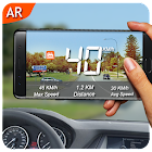 AR Speedometer with Map icon