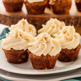 Mini Gluten-Free Carrot Cake Cupcakes with Cream Cheese Frosting Recipe