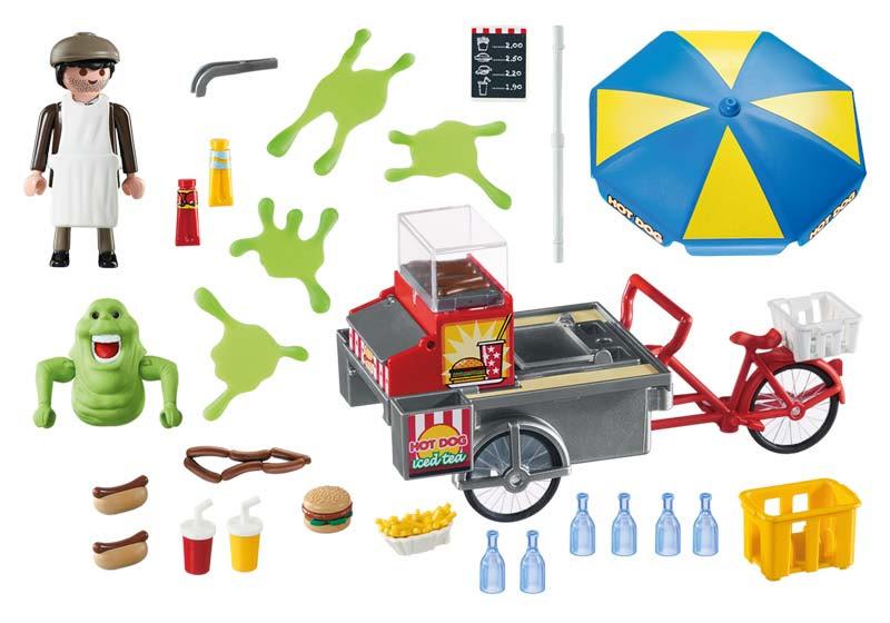 Contenido Real de Playmobil® 9222 Slimer con Stand de Hot Dog