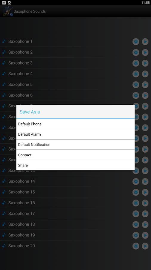 Screenshots of Saxophone Sounds Ringtones for iPhone