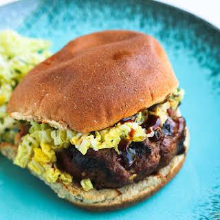 Hoisin Buffalo Burger with Spicy Slaw.