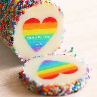 Valentine Rainbow Heart Cookies – Eugenie Cookies.