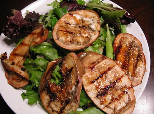 Now set the eggplant aside and gather up your greens whichever you like and...