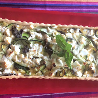 Zucchini, Feta and Mint Tart