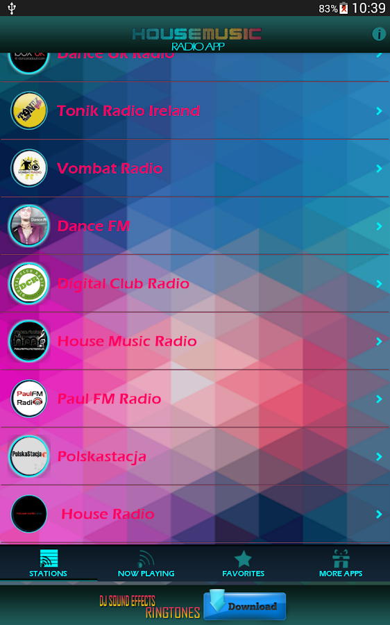 House Music Radio App- screenshot
