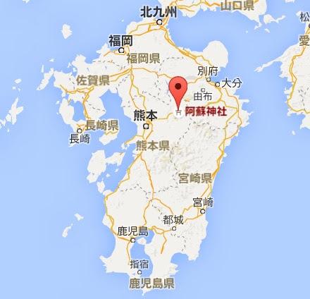 地図:阿蘇神社