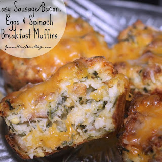 Bacon and/or Sausage Spinach & Egg Breakfast Muffins.