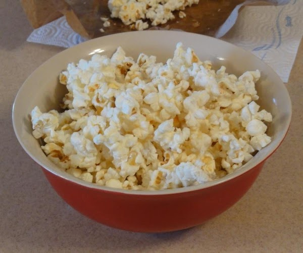 Remove bag from microwave and open carefully….the bag is hot!  Pour popcorn into...