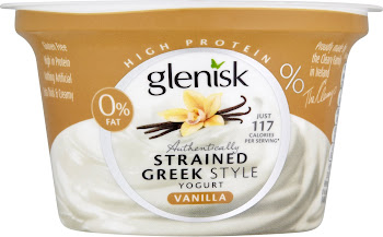 Glenisk Authentically Strained Greek Style Yogurt - Vanilla, 150g