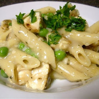 Chicken and Penne Pasta with Garlic Rosemary Sauce