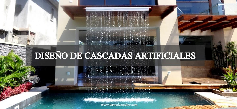 Diseño de cascadas y piletas artificiales realizadas por Termal Ecuador
