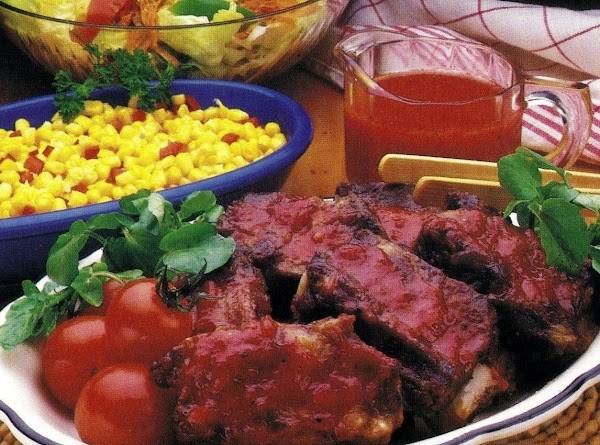 Barbecued Baby Beef Ribs (oven Version) Recipe
