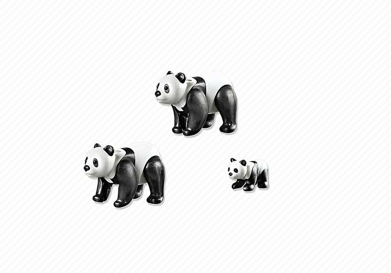 Contenido Real de Playmobil® 6652 Familia de Pandas