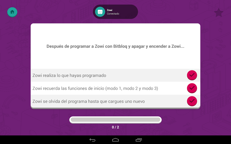 android Zowi App Screenshot 14