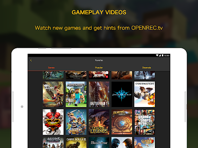 OPENREC.tv -Gaming Videos&Live screenshot 5