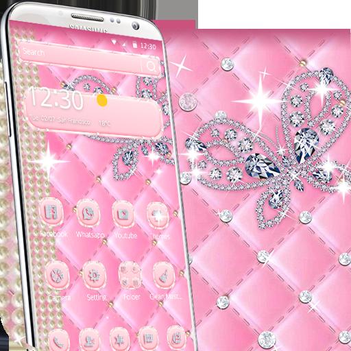 pink diamond butterfly theme