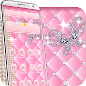 pink diamond butterfly theme