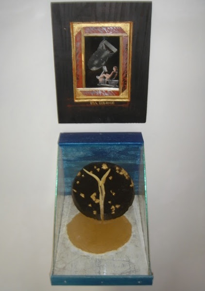 Photo: IDA BAUME & DOUBLE DISC assemblage & table top sculpture by Carlo Grassini http://www.saatchionline.com/carlograssini