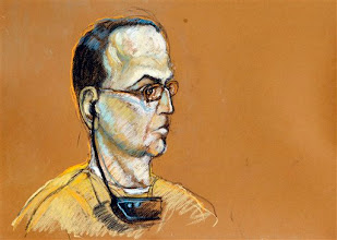 Photo: This artist's rendering shows convicted Cuban spy Antonio Guerrero during his re-sentencing hearing in federal court in Miami, Tuesday, Oct. 13, 2009. Guerrero has received a reduced prison sentence of nearly 22 years after his original life term was tossed out by an appeals court. A federal judge in Miami imposed the new sentence Tuesday on 50-year-old Antonio Guerrero. It is nearly two years longer than an agreement reached by prosecutors and defense lawyers. (AP Photo/Shirley Henderson)