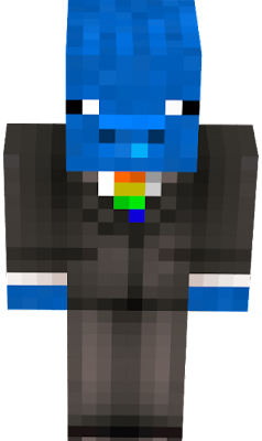 Tuxedo Pig but the tie is rainbow and the pig is blue also this was made by BluePeanutPig originally :) if you copy this your a pirate and no one likes pirates they're gay andninjas are better.